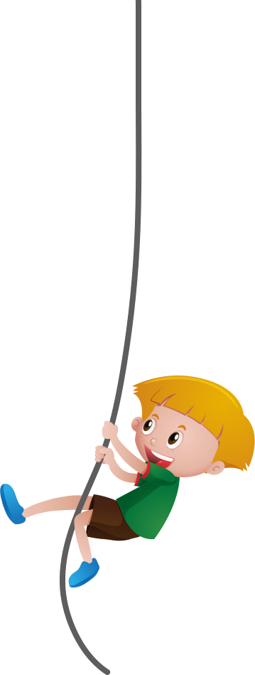 boy holding a rope